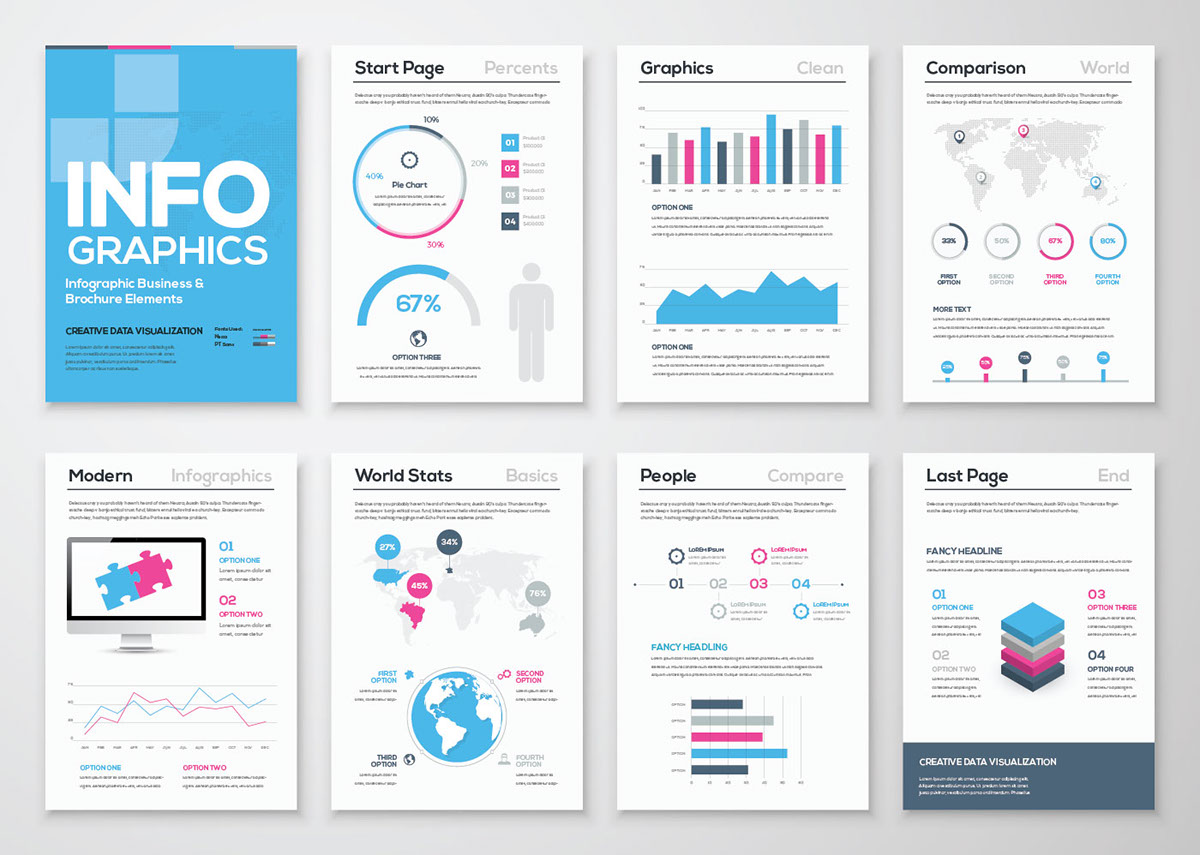 Infographic templates you can download and use for FREE | Boston Web ...