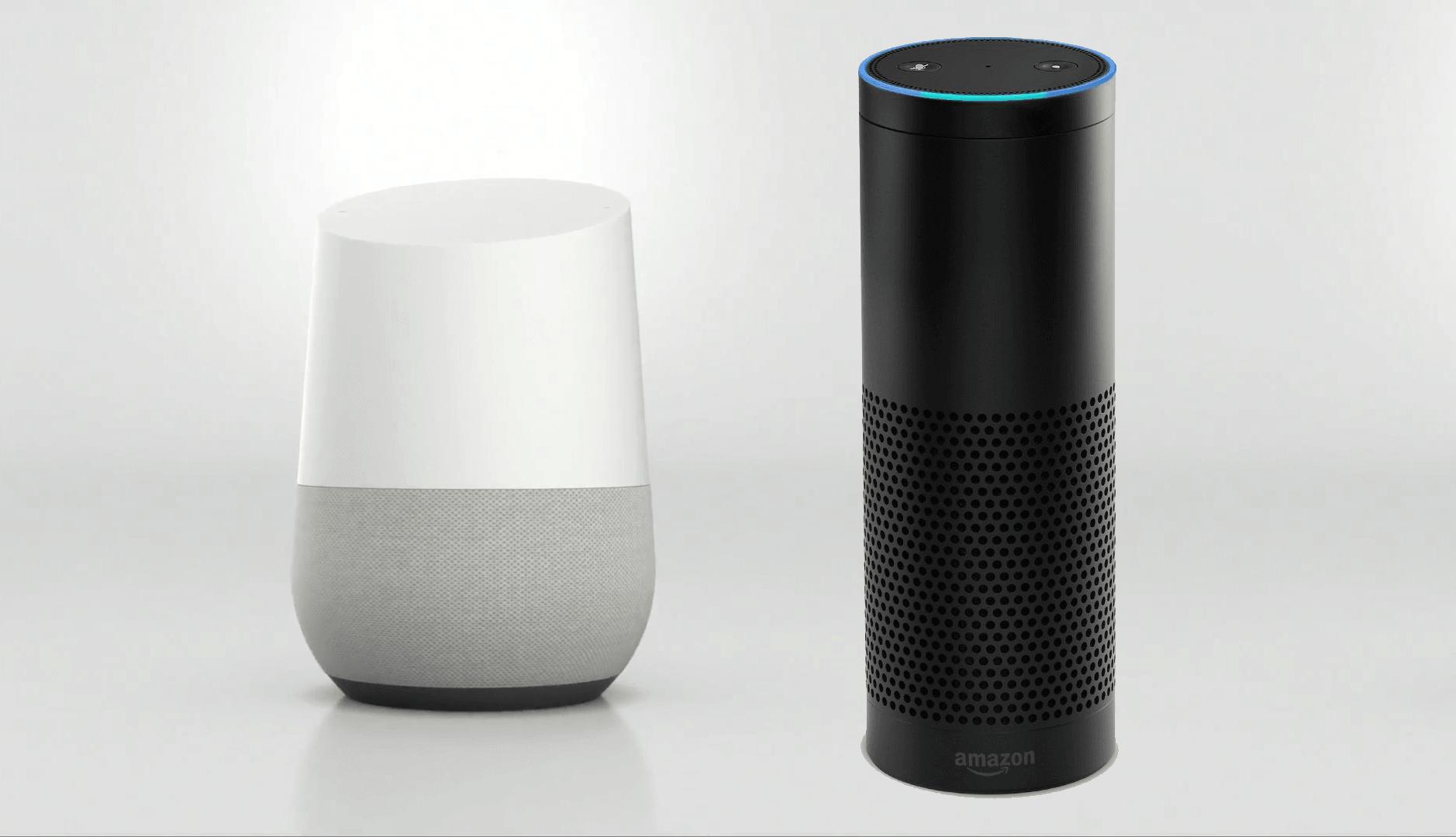 Google Home vs. Amazon Echo   Boston Web Design & Creative Digital ...
