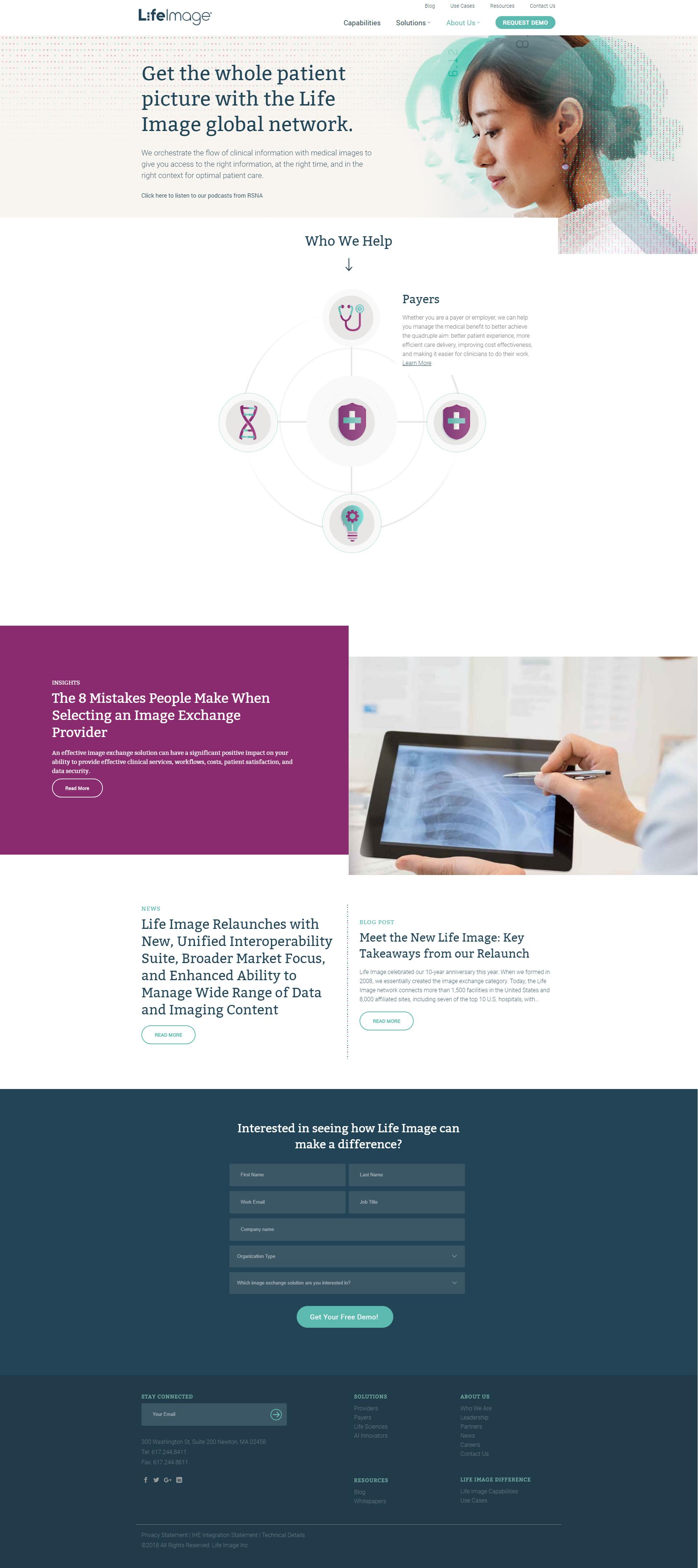 LifeImage - Enterprise Website Development and Design Project