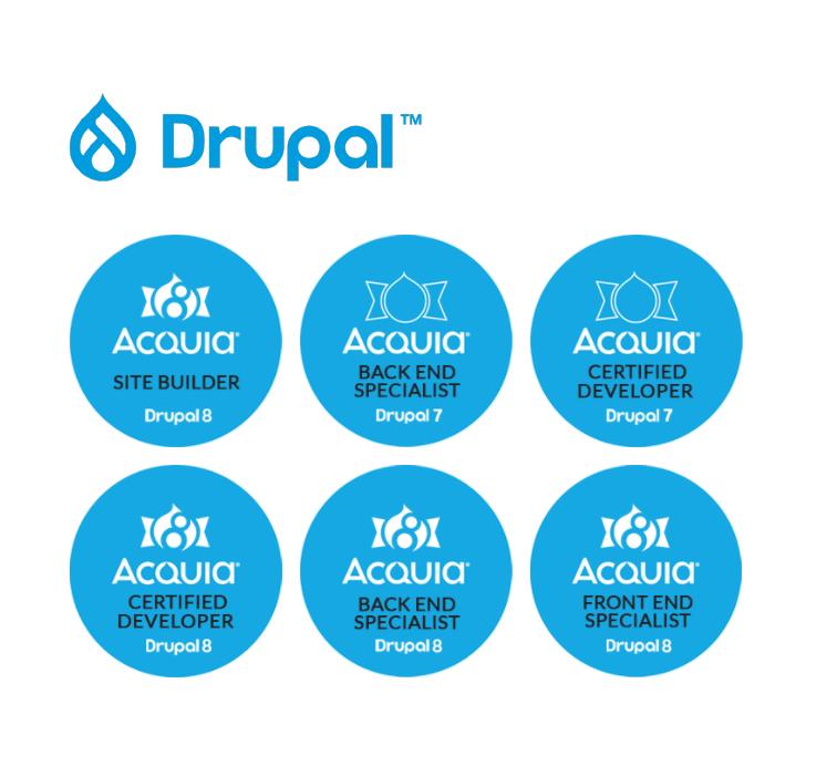WDB Agency drupal certificates badges acquia